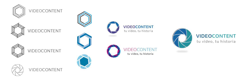 Diseño y desarrollo de nuestra nueva web | Videocontent Tu vídeo desde 350€ | evolucion logo videocontent | marketing-online