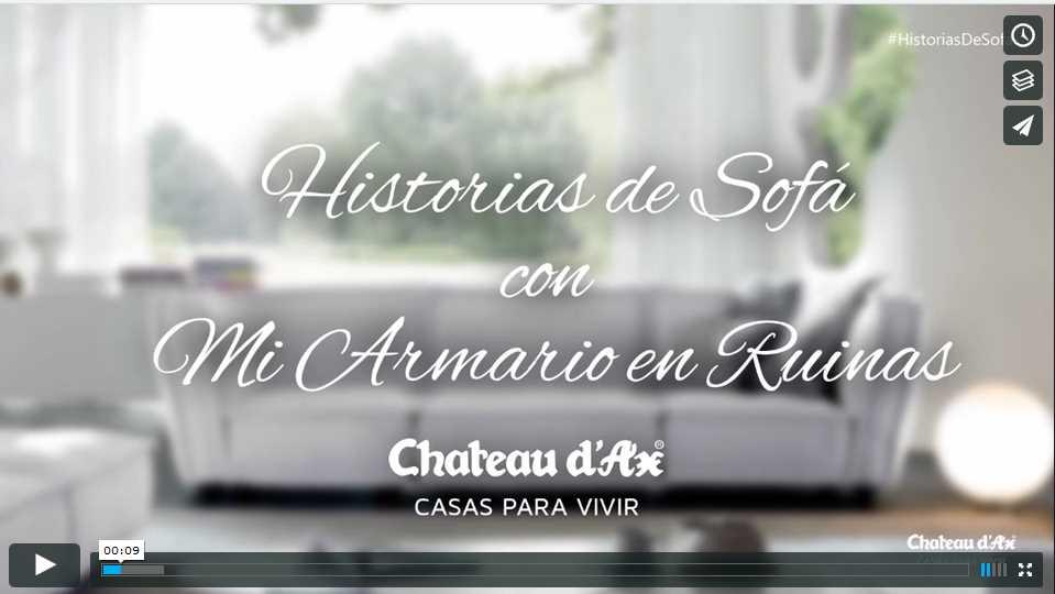 video influencer para chateau d ax historias de sofa con mi armario en ruinas