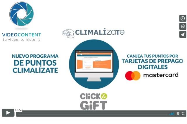 Vídeo explicativo de producto plataforma Climalízate para CLiCK and GiFT