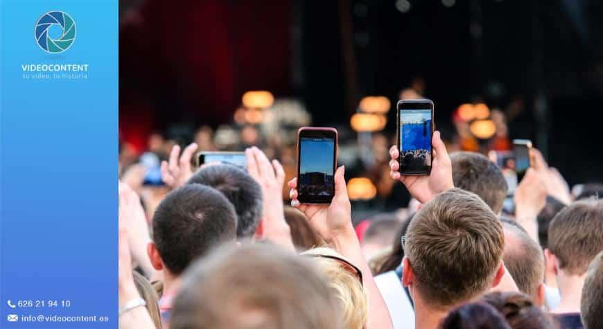 Vídeos para promocionar conciertos